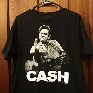 JOHNNY CASH T-SHIRT 👕 Middle finger music tee